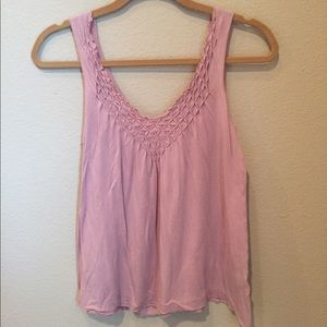 Pink top from Banana Republic